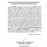 EDITAL NOTIFICAÇÃO DE PROTESTOS DÍVIDA ATIVA